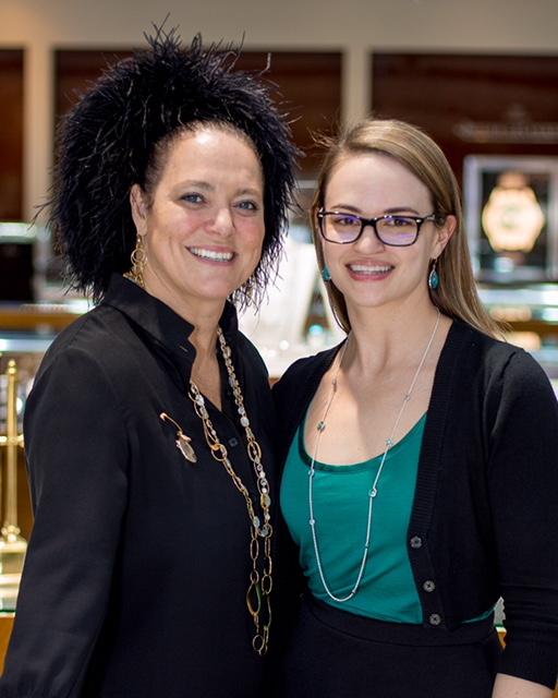 Ippolita Rostagno poses next to Abby Haun