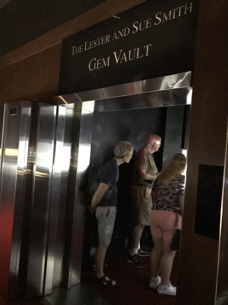 The entrance to the Lester and Sue Smith Gem Vault.