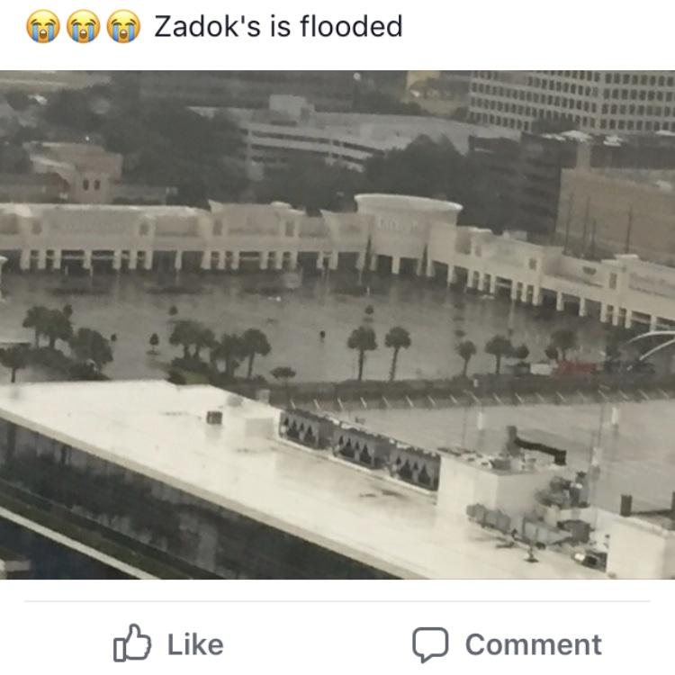 Zadok strip center flooded