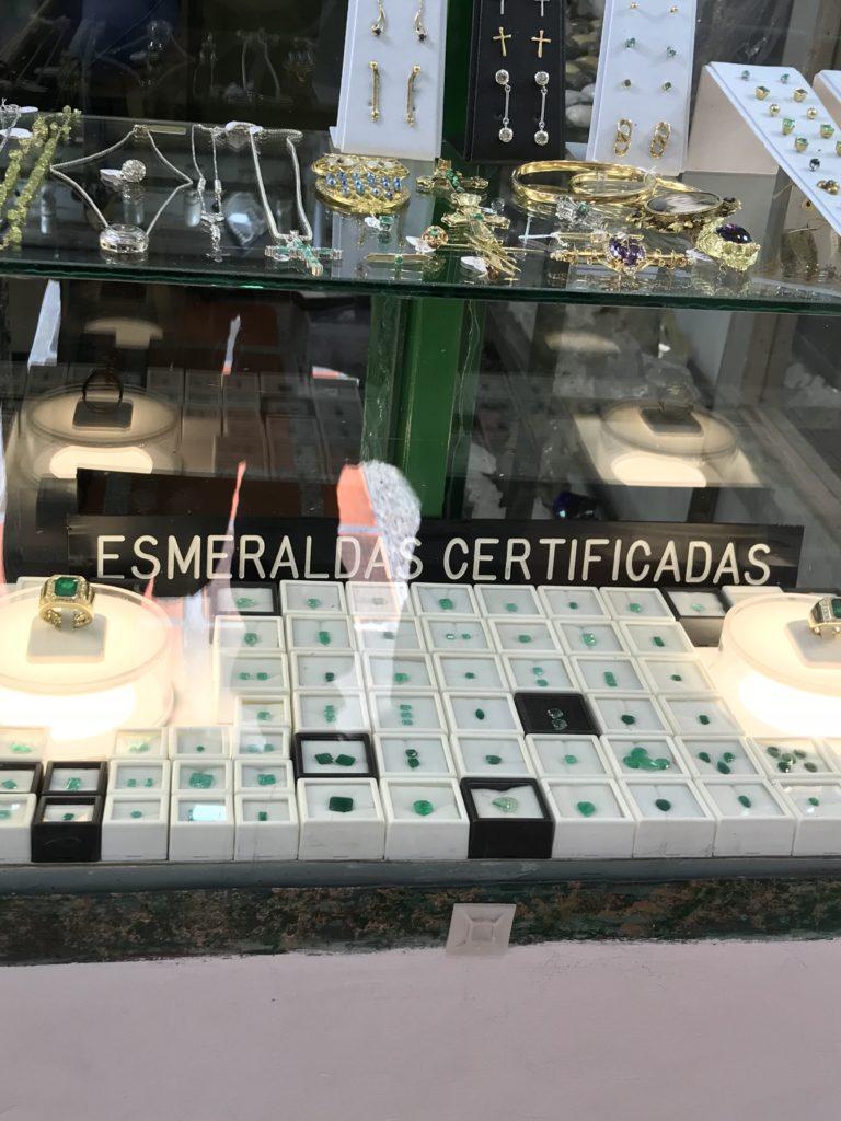Emerald district in Bogotá