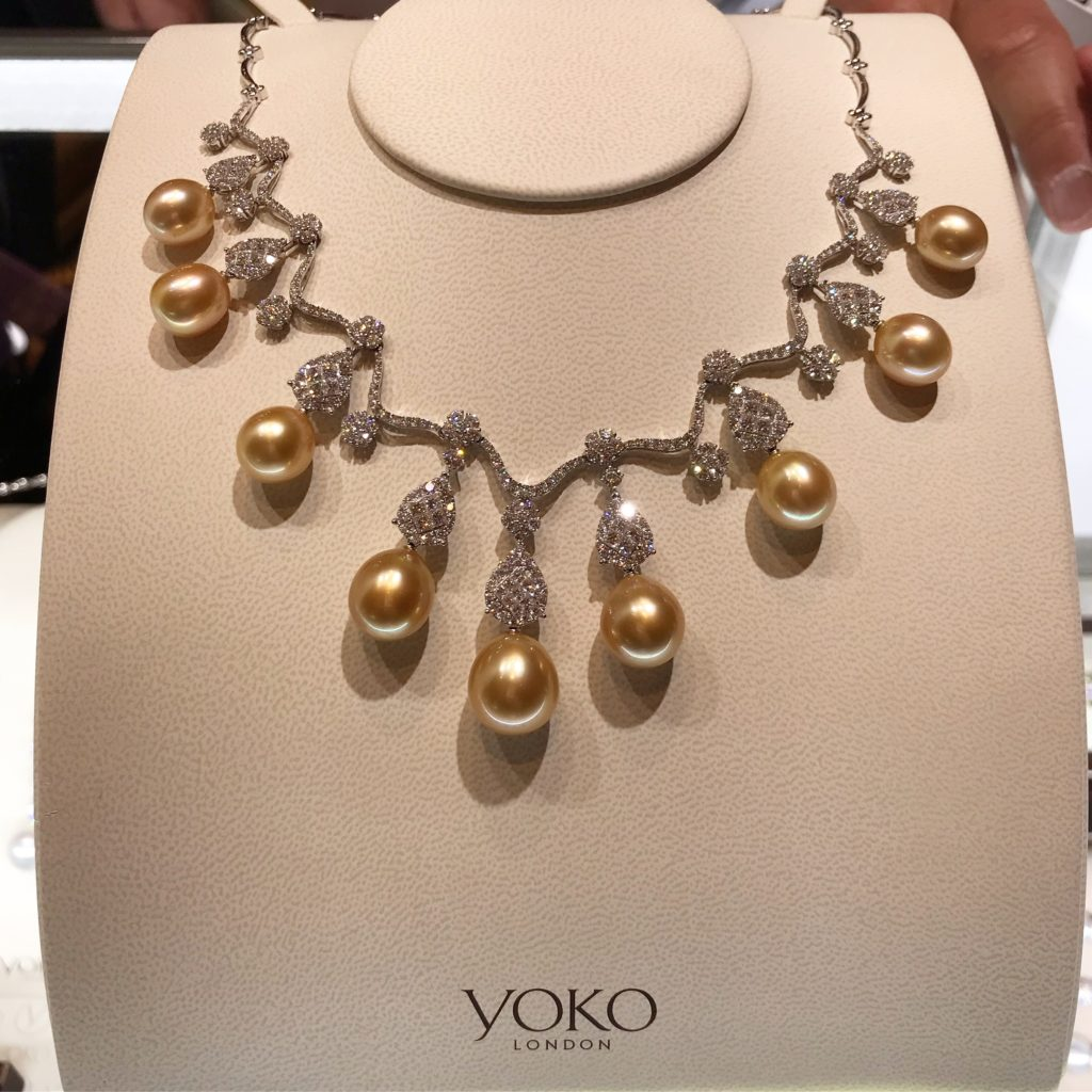 2fd8863d55ceae A golden south sea pearl and diamond necklace at COUTURE from Yoko London  Pearls